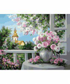 Картина по номерам Шарм цветущего сада 40 х 50 см (KH2204)
