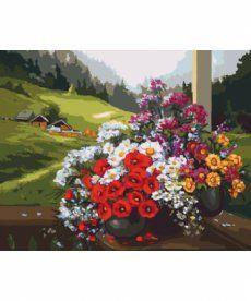 Картина по номерам Букеты на окне 40 х 50 см (KH2212)