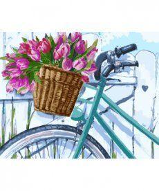 Картина по номерам Тюльпаны в корзинке 40 х 50 см (KH2219)