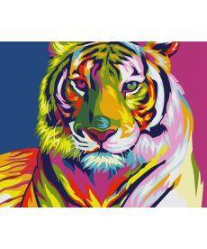Картина по номерам Тигр поп-арт 40 х 50 см (KH2436)