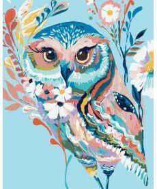Картина по номерам Очаровательная сова 40 х 50 см (KH2471)