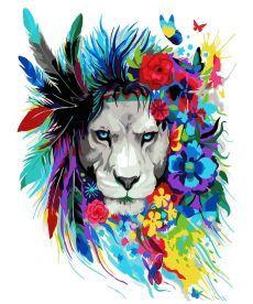 Картина по номерам Волшебный лев 40 х 50 см (KH2483)