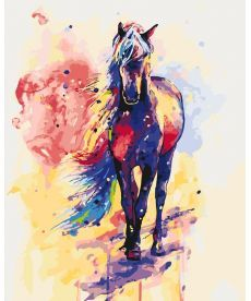Картина по номерам Радужный конь 40 х 50 см (KH2497)