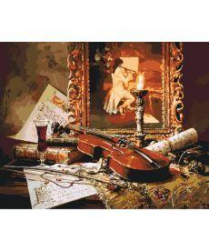 Картина по номерам Волшебная музыка скрипки 40 х 50 см (KH2509)