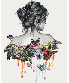 Картина по номерам В окружении бабочек 40 х 50 см (KH2688)