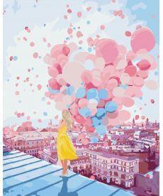 Картина по номерам Рассвет над крышами Парижа 40 х 50 см (KH2697)