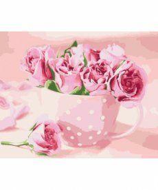 Картина по номерам Чайные розы 40 х 50 см (KH2923)