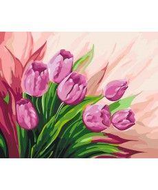 Картина по номерам Персидские тюльпаны 40 х 50 см (KH2924)