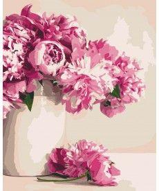 Картина по номерам Бархатные пионы 40 х 50 см (KH2931)