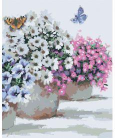 Картина по номерам Цветы в горшочках 40 х 50 см (KH2933)