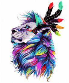 Картина по номерам Несокрушимый лев 40 х 50 см (KH4003)