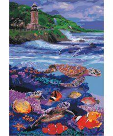 Картина по номерам Водный мир 35 х 50 см (KH4031)