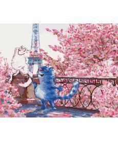 Картина по номерам Коты в Париже 40 х 50 см (KH4047)