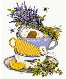 Картина по номерам Чай с лавандой и лимоном 40 х 50 см (KH5502)