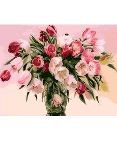 Картина по номерам Тюльпаны в вазе 40 х 50 см (KHO1072)