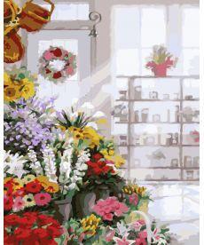Картина по номерам Букеты в цветочном магазине 40 х 50 см (KHO2023)