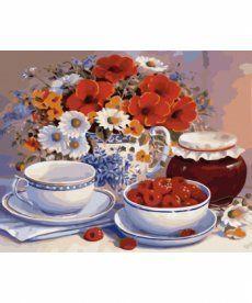 Картина по номерам Приглашение на чай 40 х 50 см (KHO2029)