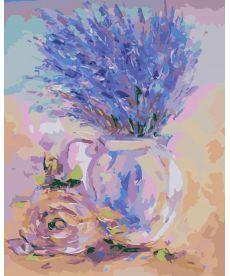 Картина по номерам Нежная лаванда 40 х 50 см (KHO2044)