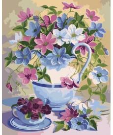 Картина по номерам Букет в лиловых тонах 40 х 50 см (KHO2049)