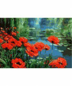 Картина по номерам Маки у пруда 40 х 50 см (KHO2056)