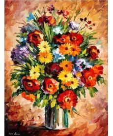 Картина по номерам Яркие цветы 40 х 50 см (KHO2057)