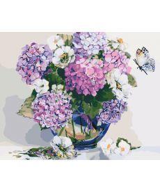 Картина по номерам Гортензия и жасмин 40 х 50 см (KHO2083)