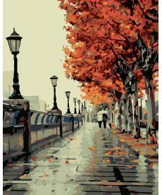 Картина по номерам Осенний сквер  40 х 50 см (KHO2115)
