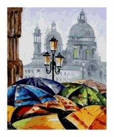 Картина по номерам Зонтики 40 х 50 см (KHO2136)