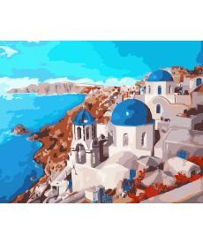 Картина по номерам Санторини 40 х 50 см (KHO2139)