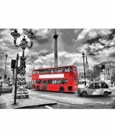 Картина по номерам Лондонский автобус 35 х 50 см (KHO2146)