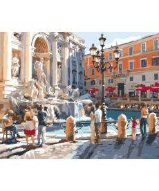 Картина по номерам Рим Фонтан Треви 40 х 50 см (KHO2152)