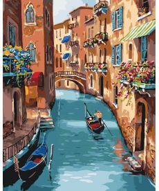 Картина по номерам Солнечная Венеция 40 х 50 см (KHO2153)