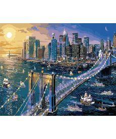 Картина по номерам Нью-Йорк. Бруклинский мост 40 х 50 см (KHO2170)