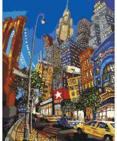Картина по номерам Бродвей 40 х 50 см (KHO2172)