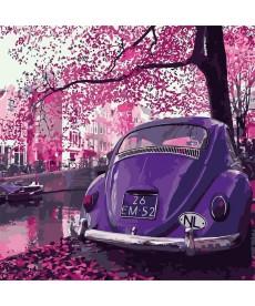 Картина по номерам Пейзаж в пурпурных тонах 40 х 40 см (KHO2188)