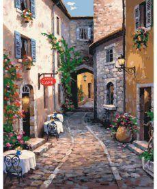Картина по номерам Тихая улочка 40 х 50 см (KHO2192)