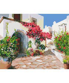 Картина по номерам Греческий дворик 40 х 50 см (KHO2218)