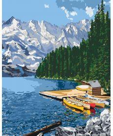 Картина по номерам Отдых у озера 40 х 50 см (KHO2223)