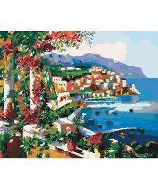 Картина по номерам Балкон увитый виноградом 40 х 50 см (KHO2225)