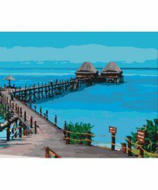 Картина по номерам Пляж Танзании 40 х 50 см (KHO2228)