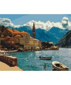 Картина по номерам Побережье Черногории 40 х 50 см (KHO2229)