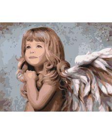 Картина по номерам Мой милый ангел  40 х 50 см (KHO2309)