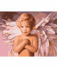 Картина по номерам Голубоглазый ангел 40 х 50 см (KHO2315)