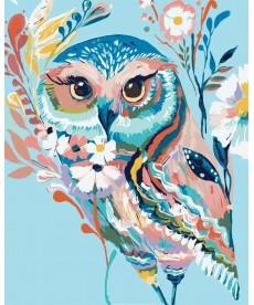 Картина по номерам Очаровательная сова 40 х 50 см (KHO2471)