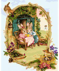 Картина по номерам Заюшкины посиделки 40 х 50 см (KHO2490)