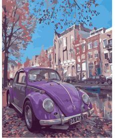 Картина по номерам Фиолетовое авто 40 х 50 см (KHO2503)
