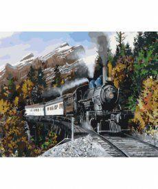 Картина по номерам Скорый поезд 40 х 50 см (KHO2511)