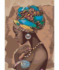 Картина по номерам Красота в стиле этно 35 х 50 см (KHO2625)