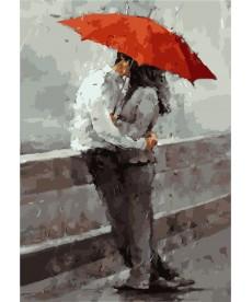 Картина по номерам Красный зонт 35 х 50 см (KHO2647)