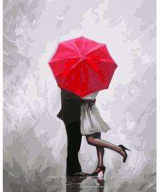 Картина по номерам Влюбленные под зонтом 40 х 50 см (KHO2656)